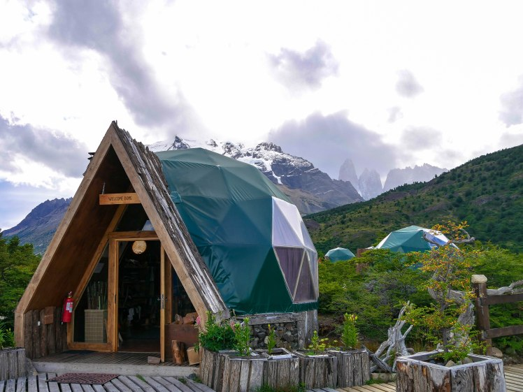 Welcome Dome at Torres del Paine EcoCamp Central