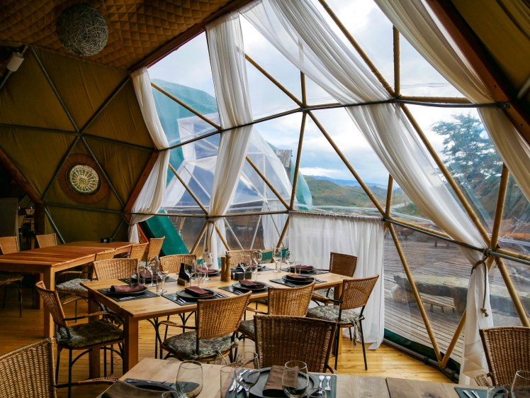 Dining dome in Torres Del Paine EcoCamp Central