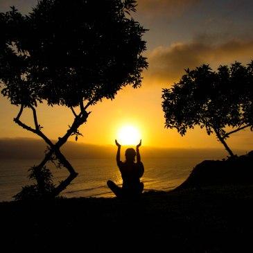 Travel Yoga Girl Sunset