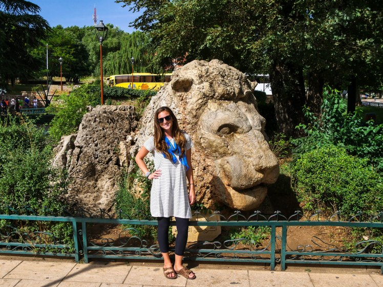 Lion statue in Ifrane, Morocco