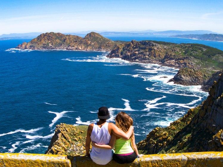 Hiking in Cíes Islands in Spain