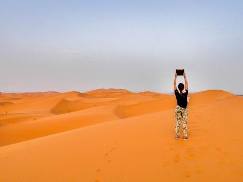 Sahara Desert Biolite Solar Panel