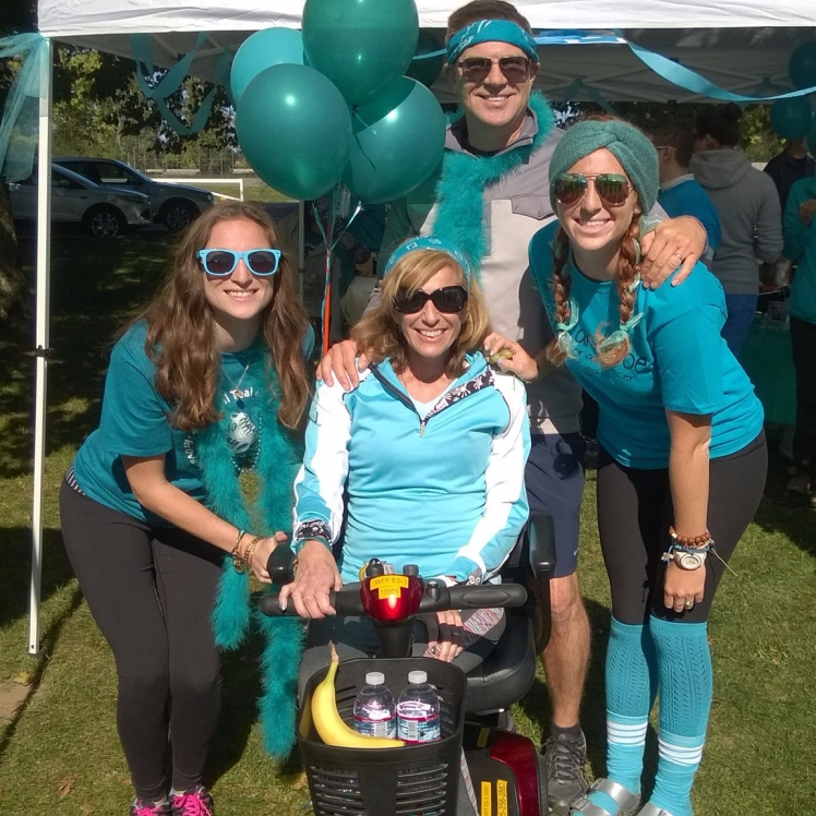 Staudinger family at the Teal and Toe Walk for Ovarian Cancer Awareness in 2015