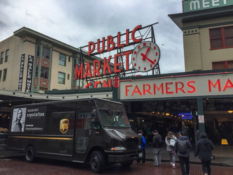 Pike Place Market Seattle in the fall