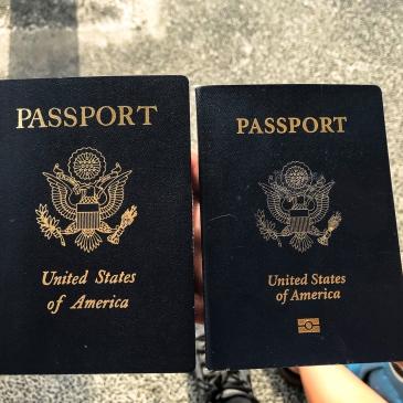 United States Emergency Passport and Normal Passport