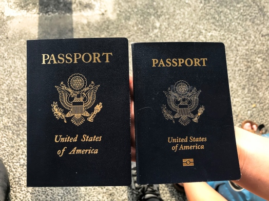 United States Emergency Passport and Normal Passport