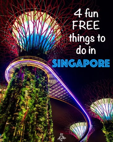 Singapore supertree grove at Gardens by the Bay