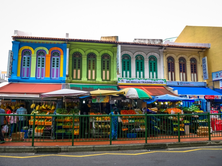 Market in Little India in Singapore