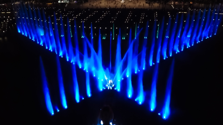 Spectra show from above (shot on our drone)
