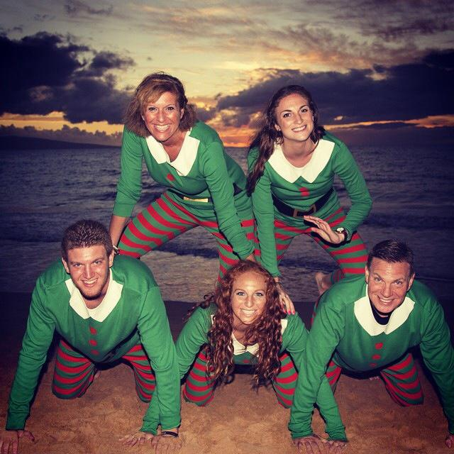 Elf Pajamas on the beach