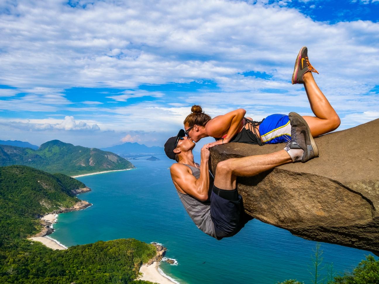 Cliffside kiss in Brazil