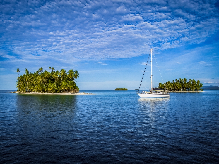Sailboat in San Blas Islands Panama
