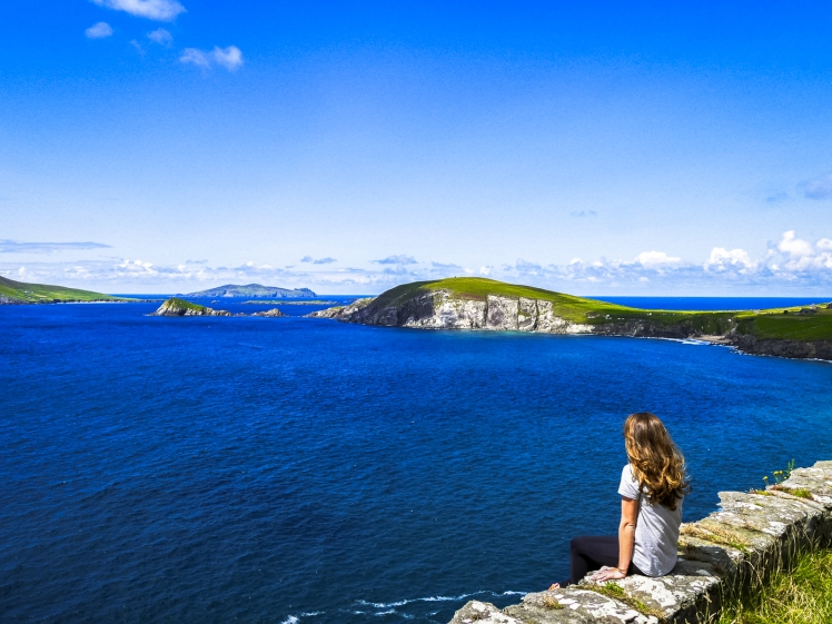Dingle Peninsula in Ireland on a sunny day