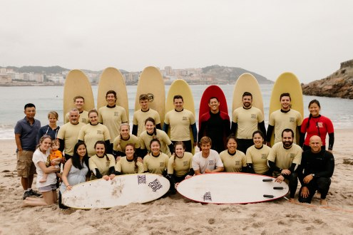 Surf class with Base Surf Camp