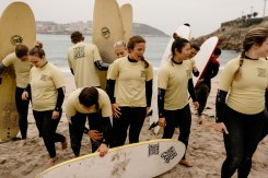 Base Surf Camp Class in Spain
