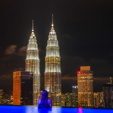 Rooftop Pool view in Kuala Lumpur
