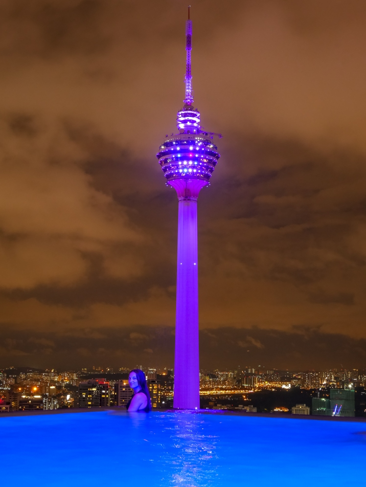 View of KL Tower from Face Suites infinity pool