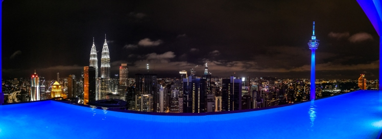 Rooftop infinity pool at The Face Suites
