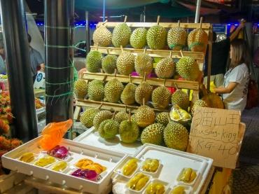 Durian fruit stand in Jalan Alor (market) Kuala Lumpur