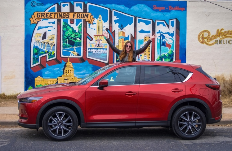 Mazda CX5 Greetings from Austin Wall