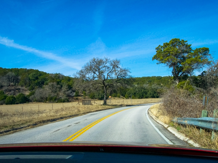 Country road to Hamilton Pool Preserve