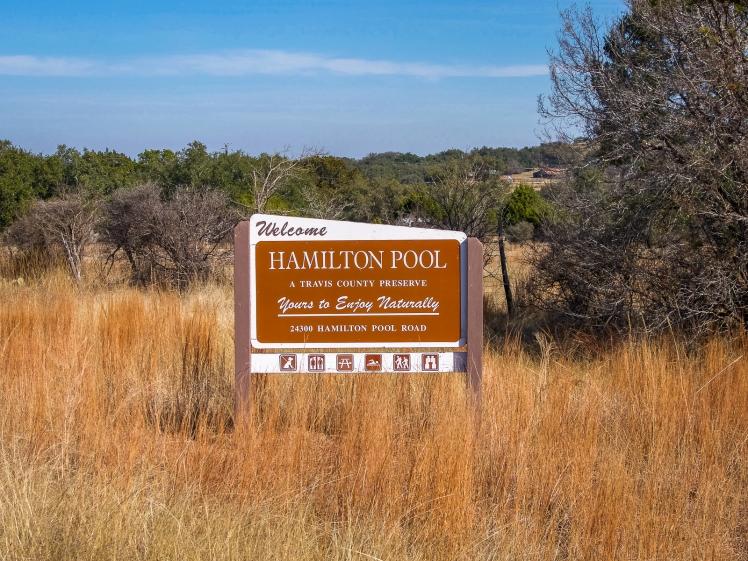 Hamilton.Pool.Travis.County.Preserve.Welcome.Sign.go4theglobe.Texas