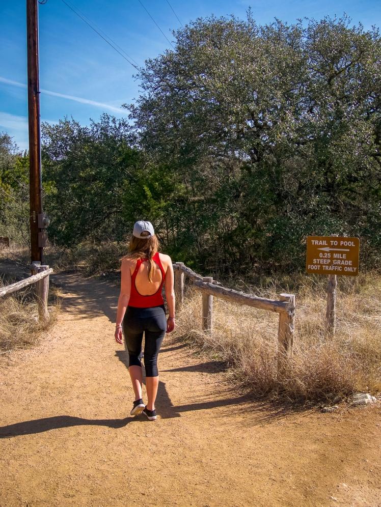Trail entrance to Hamilton Pool