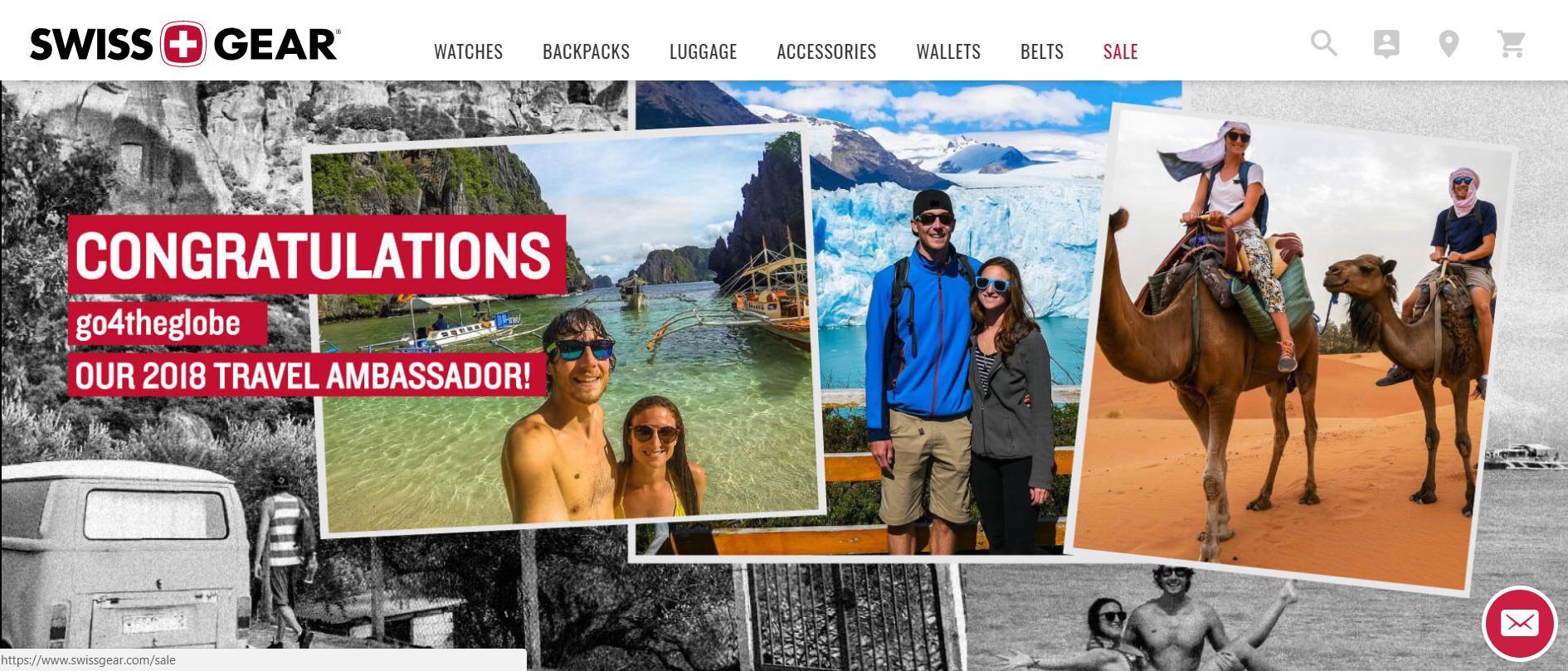 Swissgear 2018 Travel Ambassador web banner