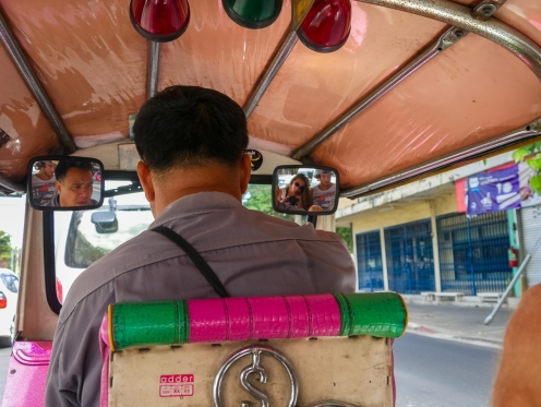 Tuk-Tuk rearview mirror pic