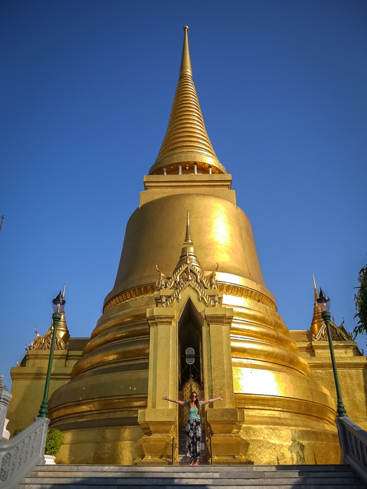 Phra Sri Ratana Chedi at the Grand Palace in Bangkok