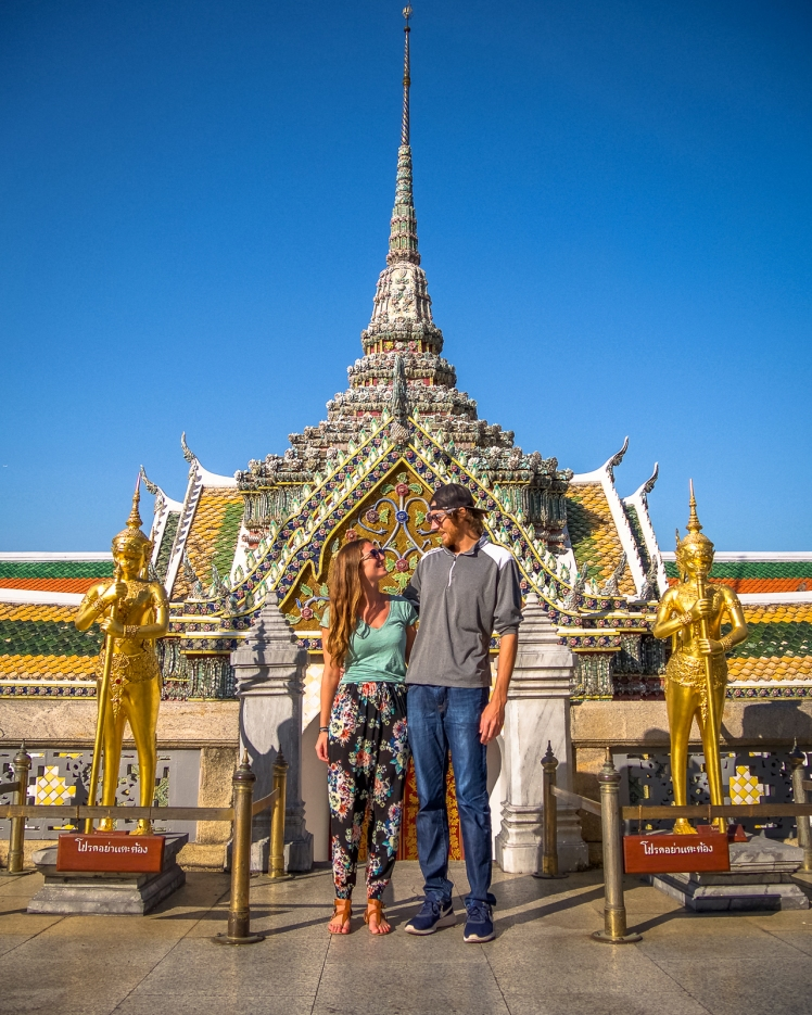 Krista and Matt at the Grand Palace in Bangkok