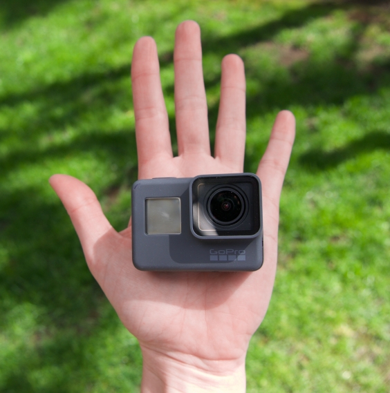 GoPro Hero 6 fits in the palm of your hand