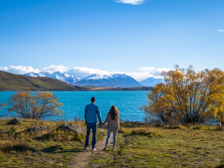 Lake Tekapo in autumn