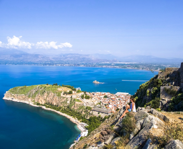 Palamidi Castle overlooking Nafplio, Greece