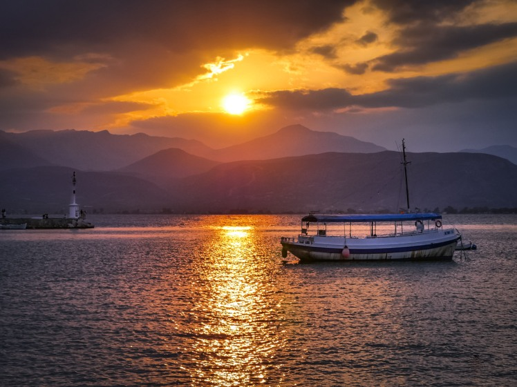 Sunset in Nafplio, Greece