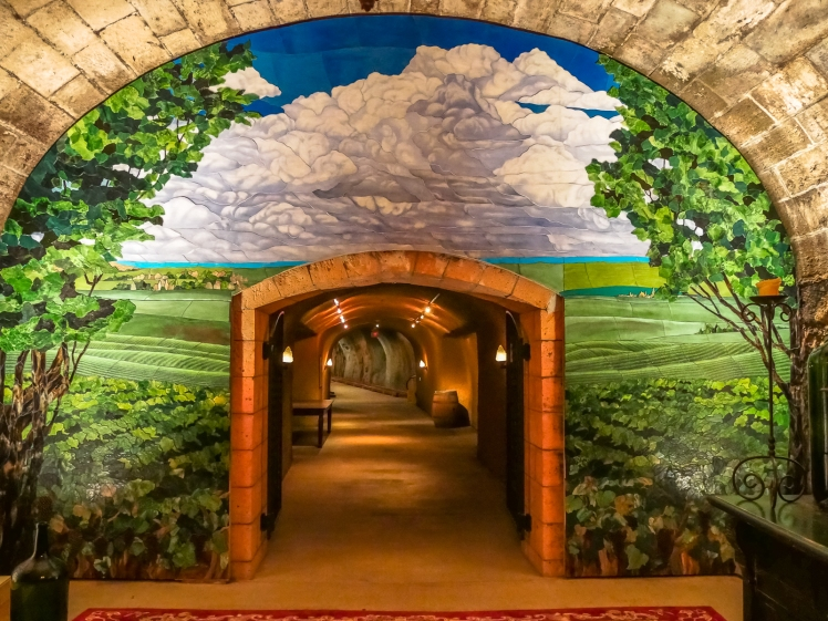 Caves entrance at Inglenook Winery