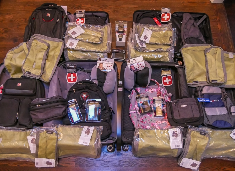 Our first shipment of gear from SWISSGEAR for New Zealand