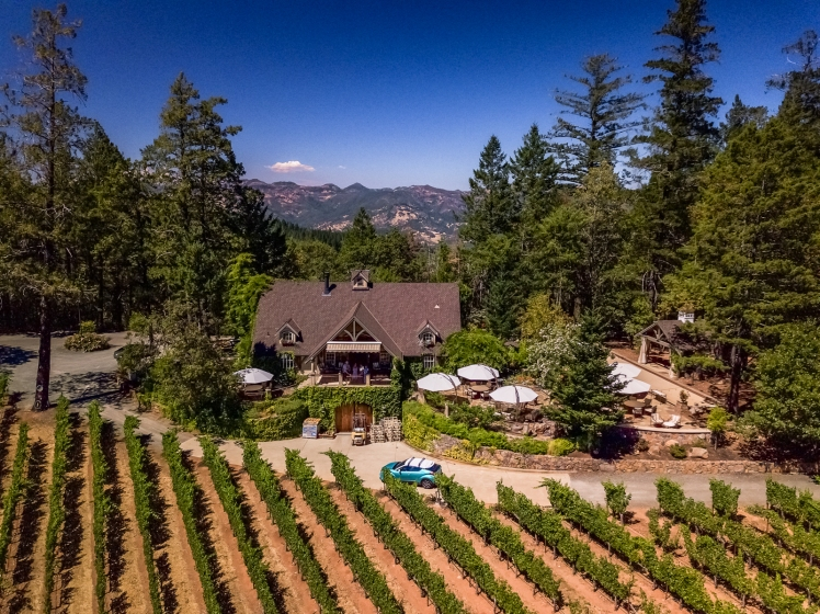 Sherwin Family Vineyards drone photo