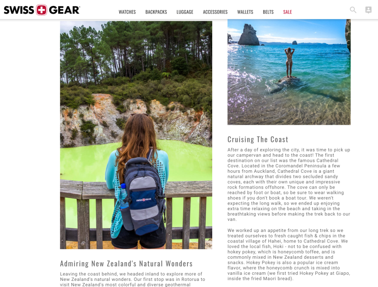 Read our New Zealand North Island on SWISSGEAR.com