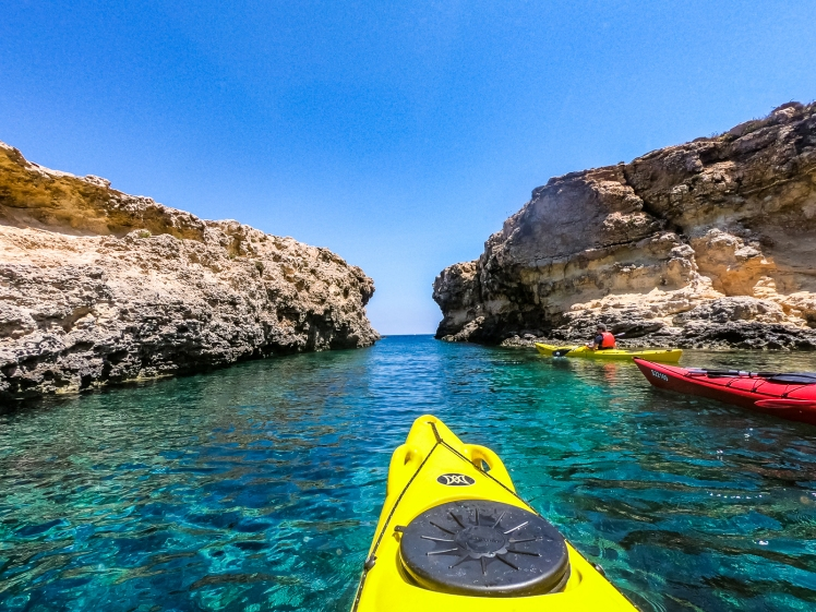 Kayaking around Comino with Kayak Gozo in Malta
