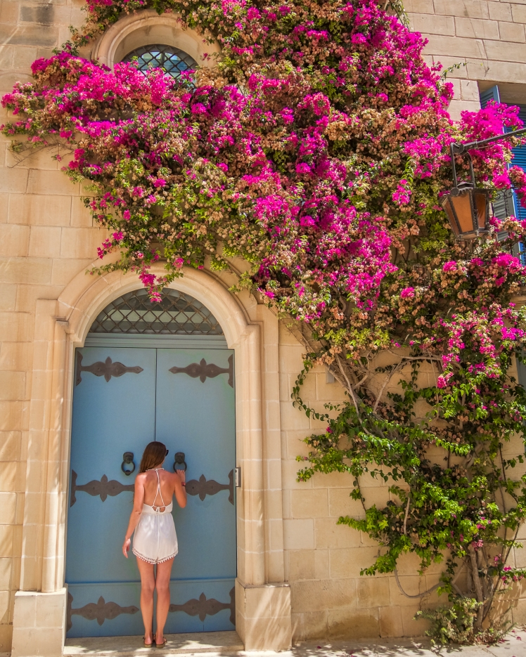 Flower door in Mdina, Malta