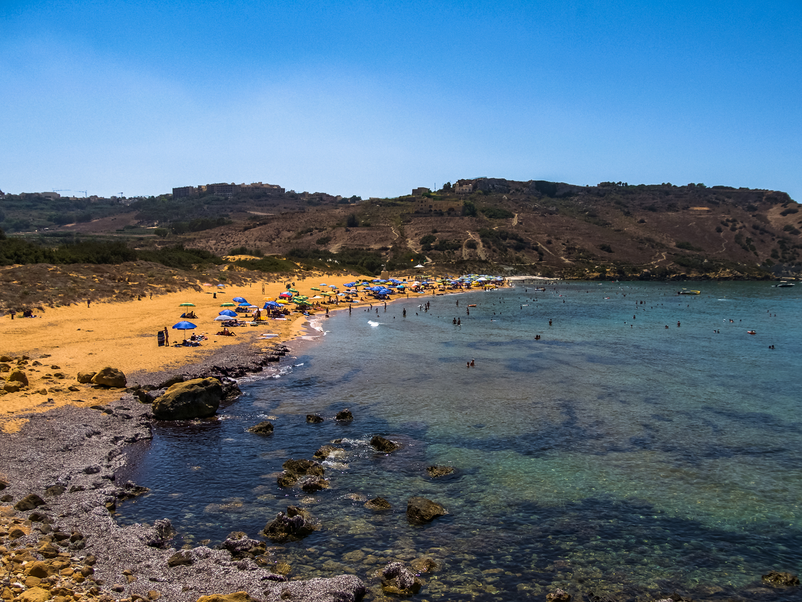Red sand beach, Ramla Bay, Gozo, Malta