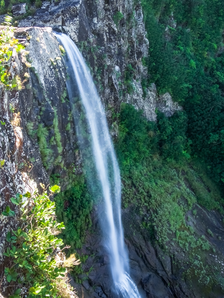 Secret waterfall in Mauritius