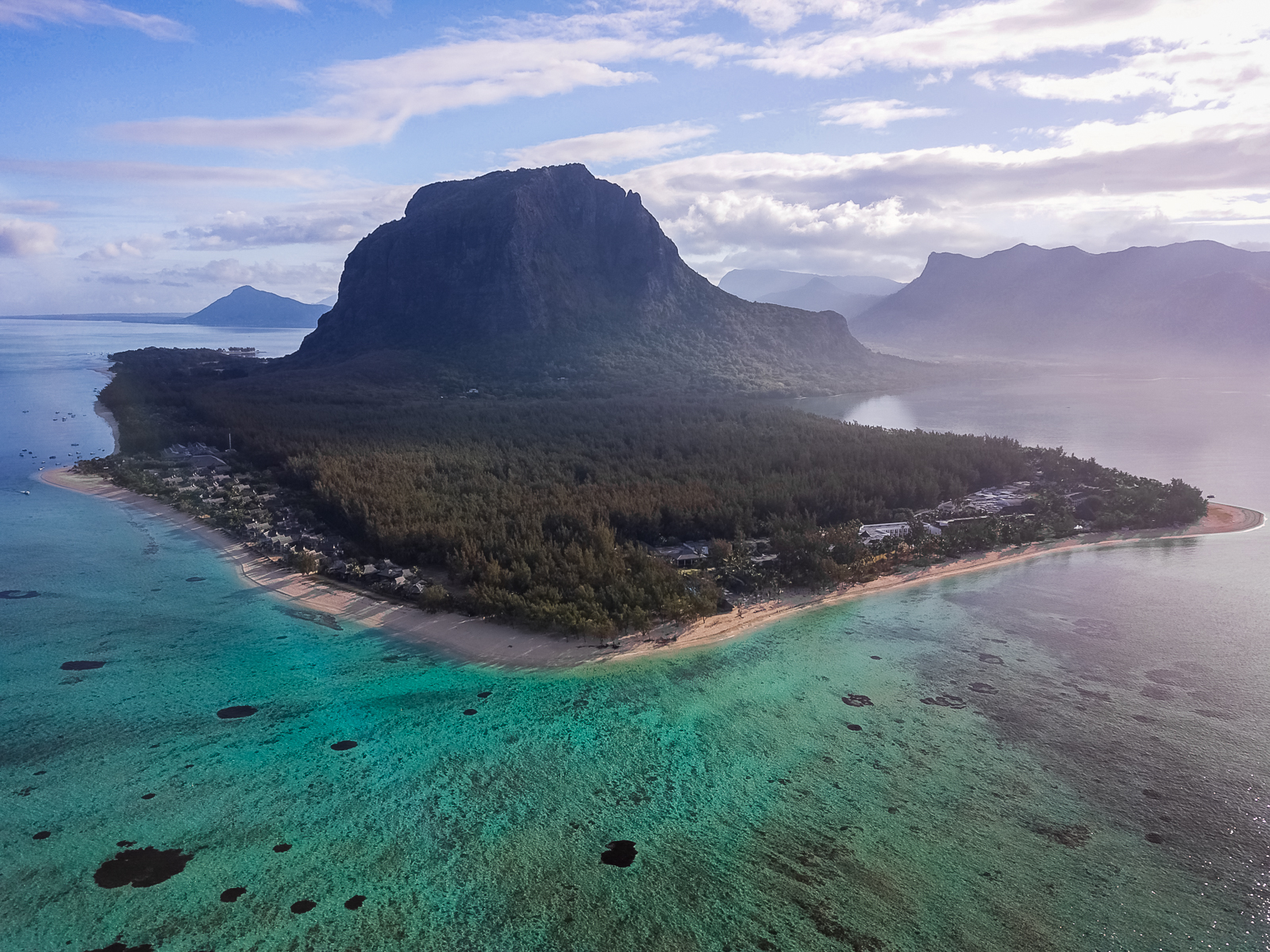 Le Morne Mauritius drone photo