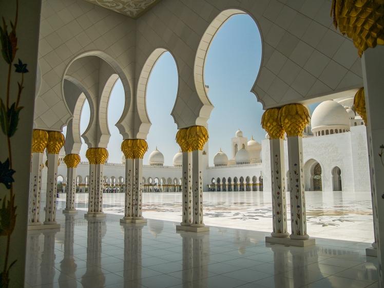 Courtyard in Sheikh Zayed Mosque