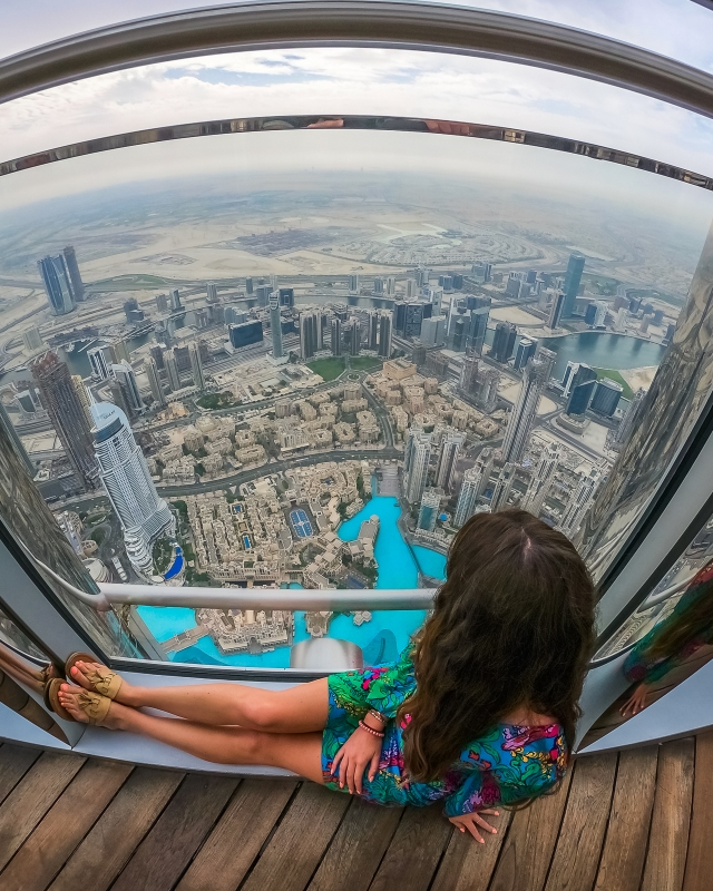 View from the top of the world's tallest building