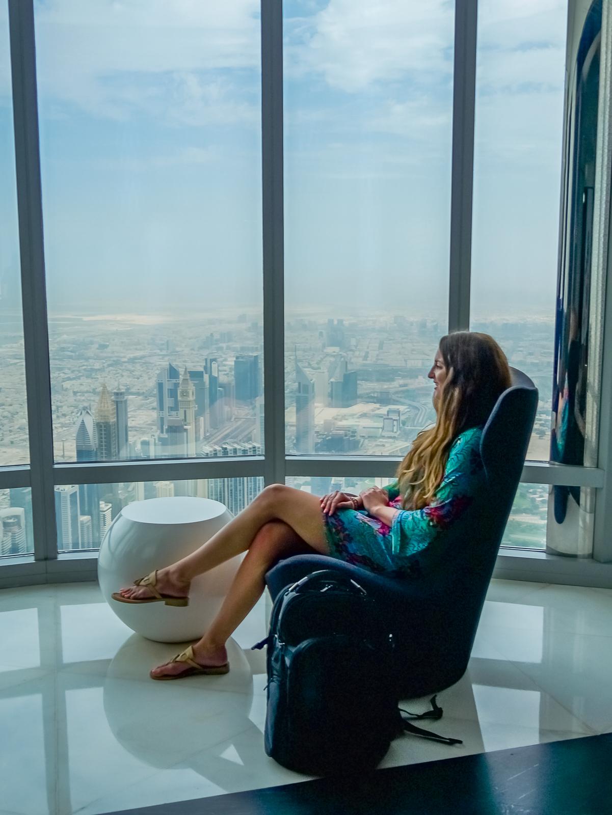 Inside VIP Lounge on Floor 148 Burj Khalifa