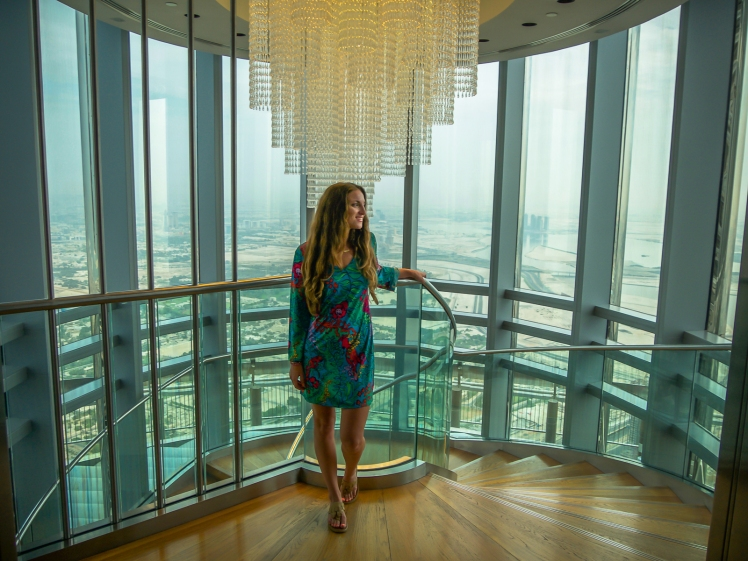 Level 125 Burj Khalifa spiral staircase