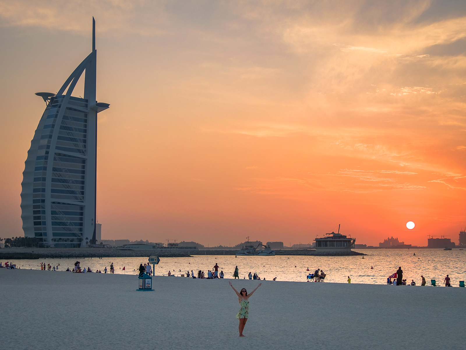 Sunset Beach at sunset in Dubai