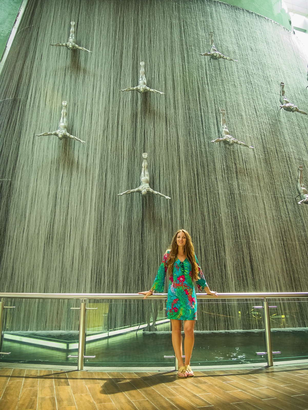 Waterfall in the Dubai Mall